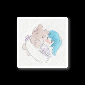 (まみむめ)大森靖子のくまとおんなのこ Stickers