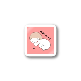 BABY IN ME ステッカー Stickers
