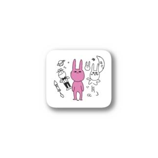 うさぎエイリアン Stickers