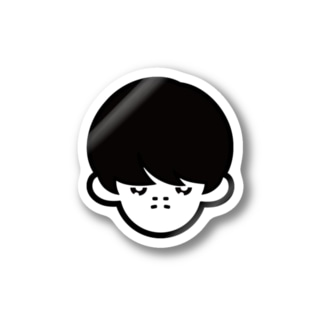 hicono webstoreのふきげんボーイ Stickers