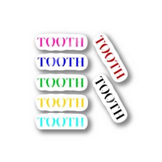 Tooth logo カラフルステッカー ステッカー