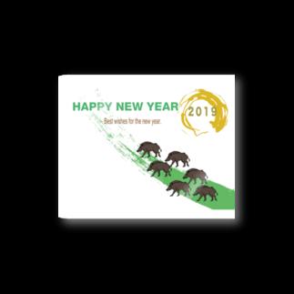 ジルトチッチのデザインボックスの2019亥年の猪のイラスト年賀状イノシシ Stickers
