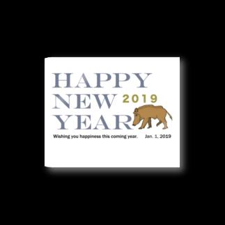 ジルトチッチのデザインボックスの2019亥年の猪のイラスト年賀状イノシシ ステッカー