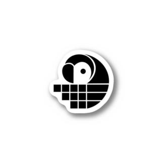 Pixela Bird Sticker - Black ステッカー