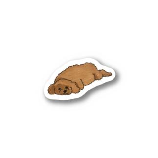 よく眠る犬 Stickers