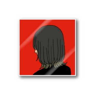 カットモデル(マッシュウルフ) ステッカー Stickers