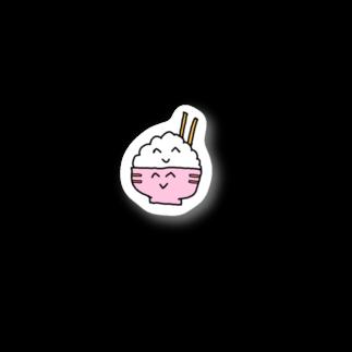 ぞうのもろんちゃん【新装開店】のニコニコごはんちゃん Stickers