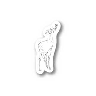 hicono webstoreの鹿とぶどう Stickers
