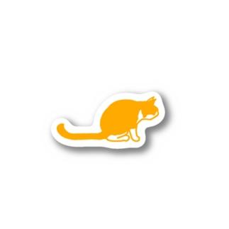 茶白猫 ジー Stickers