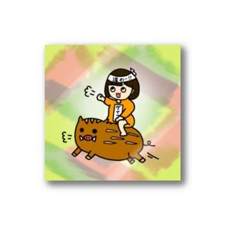 ケイコちゃん進めステッカー(カラフル) Stickers
