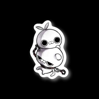 クレイジー闇うさぎSHOPのクレイジー闇うさぎVSブチギレ毒舌くま(首輪) Stickers