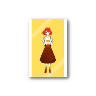 短髪女の子 Stickers