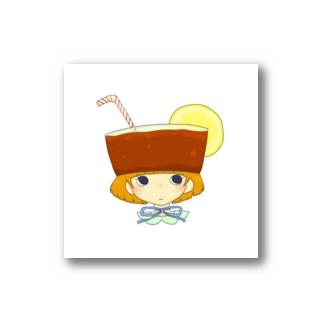たべもの帽子*レモンティー Stickers
