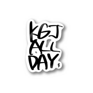 KGJ ALL DAY BK Stickers