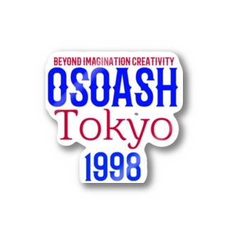 OSOASH東京BICロゴ Stickers