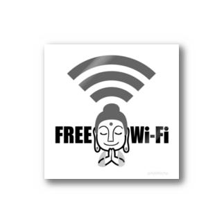 ほとけさまFree Wi-fi Stickers