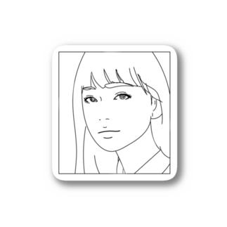 ロングヘアー Stickers