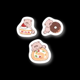 なご村🍙のあまいものとたぬきさん Stickers