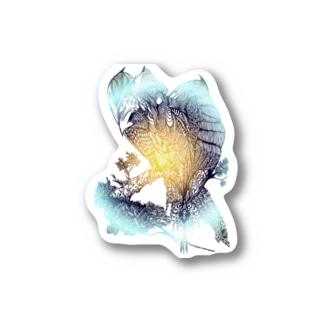神鳥 Stickers