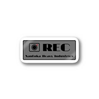 なん重オリジナル-RECステッカー(グレー) Stickers