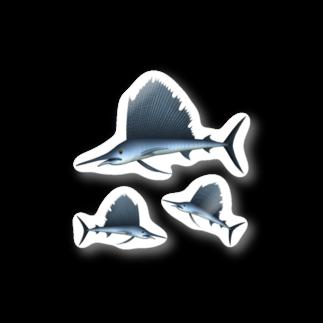 猫と釣り人のバショウカジキ_2_ST Stickers