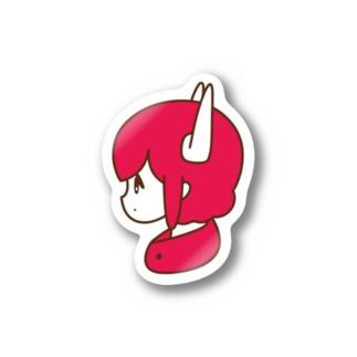 ツノ女子 Stickers