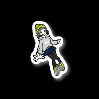 ゴンのJK(グリーン) Stickers