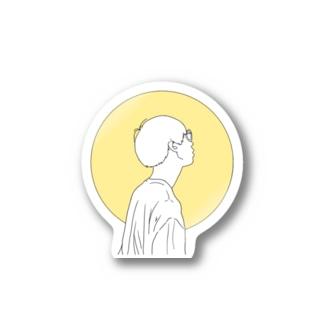 横顔 Stickers