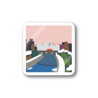 鴨  川 (夕) Stickers