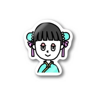 想像のコスプレ中国 Stickers