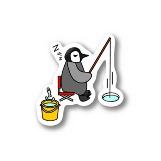 フィッシングペンギン Stickers