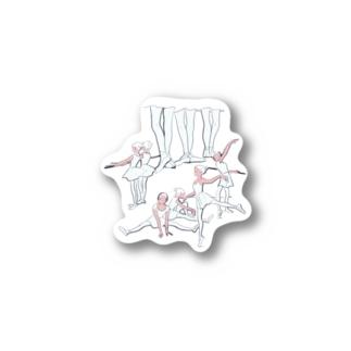 ballet school(おおきなお) Stickers