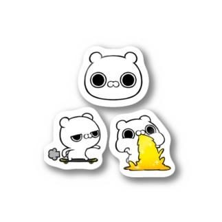ブチギレ毒舌くま(スケボー/GERO) Stickers