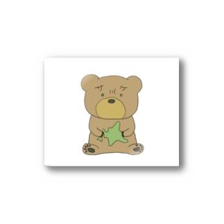 北海道を持ったクマ Stickers