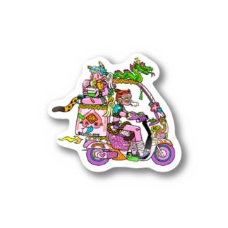 出前バイク Stickers
