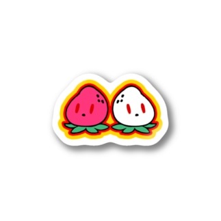 ホワイトいちごちゃん🍓と🍓いちごちゃん Stickers