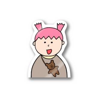 ぴぃちゃんとクマ Stickers