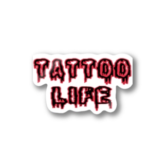 TATTOO LIFE RED Stickers