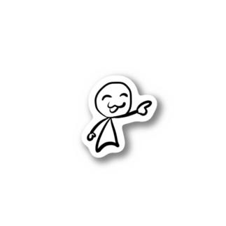 笑顔で指さしをする人 Stickers