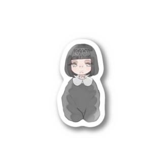 黒髪ちゃん Stickers