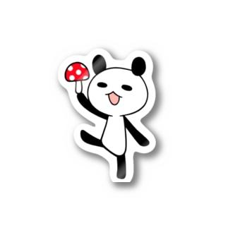 きのこパンダ Stickers