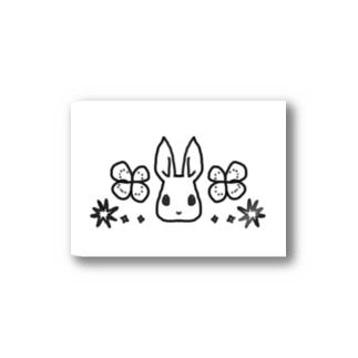 うさぎ石鹸ロゴ(白) Stickers