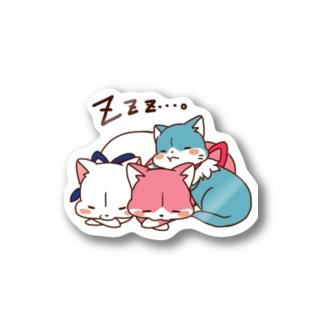 3色にゃんこ Stickers