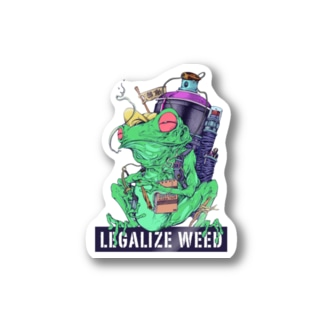 LEGALIZE IT FROG (SH11NA WORKS) Stickers