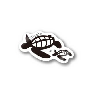 Turtle-Black ステッカー