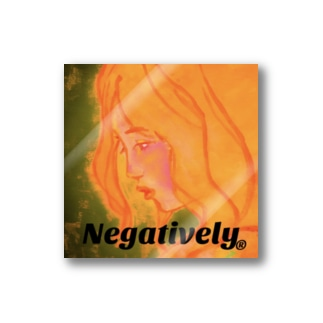 Negative Girl Stickers