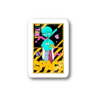 space(カラフル) Stickers