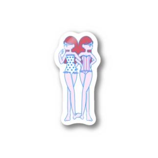 似て非なる双子ちゃん Stickers