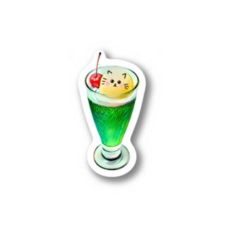 キュートなクリームソーダ❤︎ Stickers