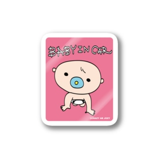 baby in car 1 Stickers